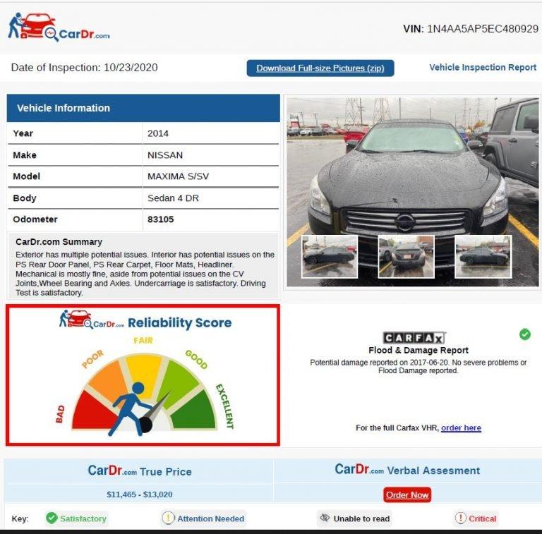 Car Inspection Report - CarDr.com